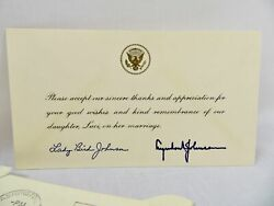 President Lyndon B. Johnson And First Lady Lady Bird Johnson Signed Letters 6