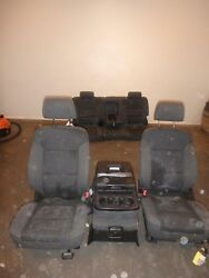 2014-2019 Gmc Sierra 1500 Black Cloth Front And Rear Seats Power Driver Passenger