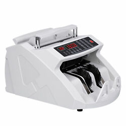 Money Bill Counter Counting Machine Counterfeit Detector Uv And Mg Cash Bank
