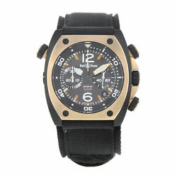 Bell & Ross Marine Matte PVD Black Steel Automatic Mens Watch BR02-CHR-BICOLOR