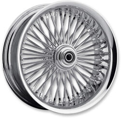 Chrome Fat Daddy 50 Spoke 23 3.75 Front Wheel Rim Harley Touring Bagger 08+ Abs