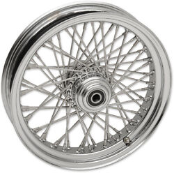 Chrome 16 3.5 Fat Daddy 50 Spoke Front Wheel Rim Indian Scout Bobber Sixty 15-18