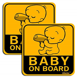 GAMPRO Set of 2 Lovely Baby ON Board Reflective Vehicle Bumper Magnet Vehicle
