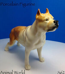 Staffordshire Bull Terrier porcelain figurine Made in Russia
