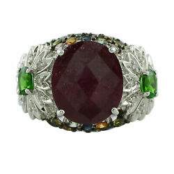 Ruby 8.80 Ct. Cocktail Ring 925 Sterling Silver Women Wedding Love Gift Jewelry