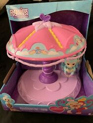 Wowwee Fingerlings Twirl-a-whirl Carousel Playset With Exclusive Monkey Abigail