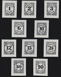 Us O47p2-o56p2 Post Office Department Roosevelt Die Proofs Xf-gem Scv 1000