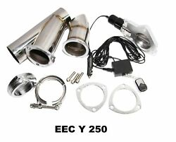 Ss Exhaust Catback Downpipe Cutout Rvalve System 2.5 Manual Electric