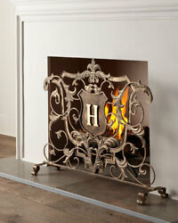 New Horchow Golden Acanthus French Scroll Monogram Ornate Fireplace Screen