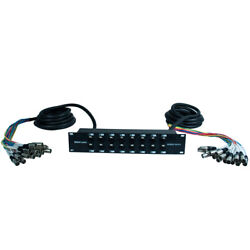 Xlr Trs Rack Splitter Snake Cable - 16 24 32 Channel - 15and039 + 15and039 Or 15and039 + 30and039