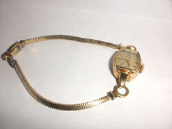 Vintage Womens Longines 14k Gold Ladies Watch Working Runs With 14k Band 17j