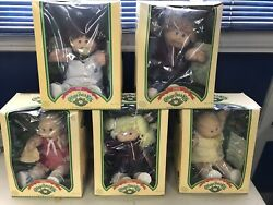 1984 And 1985 Cabbage Patch Kids Lot Of 5 Dolls Vintage 4-1984 And 1-1985 In Box