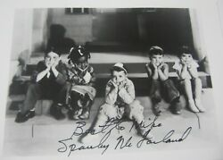 George Spanky Mcfarland Little Rascals Signed Autographed 4x6 Photo Certified
