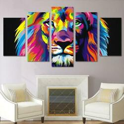 Colorful Lion Canvas Wall Art Decor of Creative and Modern Art