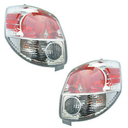 Tail Lights Rear Back Lamps Pair Set For 05-08 Toyota Matrix Left And Right