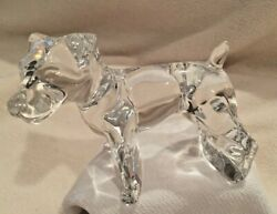 Rare BACCARAT France Crystal Jack Russell Dog Terrier Figurine - EUC! - SIGNED