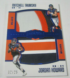 2017 Plates And Patches Mitchell Trubisky Jordan Howard Double Coverage Patch /25