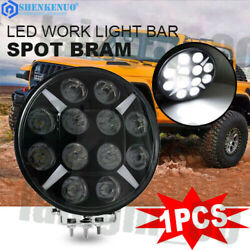 9inch 120w Led Work Light Flood Spot Beam Offroad Round Truck 4x4 Driving Lamp 7