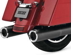 Vance And Hines Hi Output Slip-ons Blk 46463 Exhaust Mufflers / Slip-ons