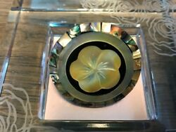 One Of A Kind Tahiti Abalone Shell Handmade Ring Size 8 With Box From Tahiti