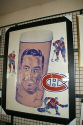 Rare Jean Beliveau Store Display From Steinbergand039s Grocery Stores 40 X 53