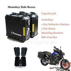 Motorcycle 36l 5kg Dual Side Cases Luggages Tool Box Saddlebag