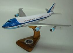 Vc-25 Air Force One Vc25 B-747 Airplane Desktop Wood Model Large Free Shipping