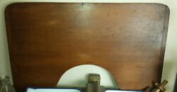 Antique Lovely Patina Xlg Bread Board/table Top Pastry Cookie Board W/baker Ends