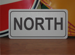 North Metal Sign Highway Street Road Design Airport Runway Free Shipping