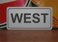 West Metal Sign Highway Street Road Design Airport Runway Free Shipping