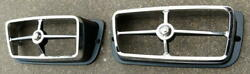 New 1969 Shelby Park Lamp Turn Light Bezels - Beautiful Reproduction And Cougar