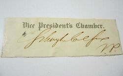Schuyler Colfax 17th Us Vice President 1823-1885 Signed Autographed Cut Coa