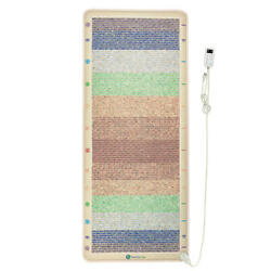 Far Infrared Heating Pad Reiki Chakra Crystal Mat Pemf Therapy Healthyline 76x32