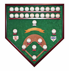 Boston Red Sox 25-29 Baseball Ws Champions Homeplate Shaped Display Case