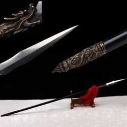 Hand Forged Hundred Steel Making Seiko Long Teng Spear Overlord Spear Sword 119