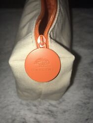 ORIGINS New Tan Canvas Small Cosmetic Case Pouch Fast Shipping $7.25