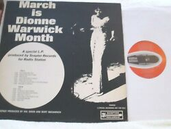 March Is Dionne Warwick Month Rare And03967 Mono Promo Only Scepter Nm- Disc