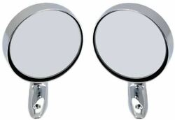 Oer Remote Outer Door Round Mirror Set 1967-1974 Dart Duster Charger Scamp