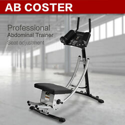Ab Coaster Core Exercise Machine All-Round Abdominal Crunch Fitness Freeweight