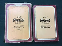 Rare 1938 Coca Cola, Hund And Eger Bottling Co., Pinochle Playing Cards W/box