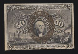 Us 50c Fractional Currency 2nd Issue Fiber Paper 18-63-r-2 Fr 1321 Xf-au -004