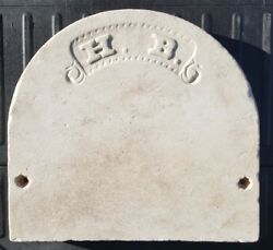 Antique 19th Century Early Chicago History Sign Architecture History Headstone