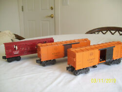 Lionel Atsf 63132 Boxcars 2 -- 1 Operating And Atsf 9280 Cattle Car