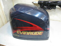 5004956 Engine Cover Cowl Evinrude Outboard Ficht Blue Motor Cover