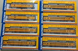 Set Of 8 Walthers Hiawatha Milwaukee Road Yellow Scheme Coach Post Office Parlor