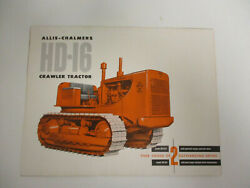 Allis-chalmers Hd-16 Crawler And Hd-9 Diesel Crawler Sales Brochures