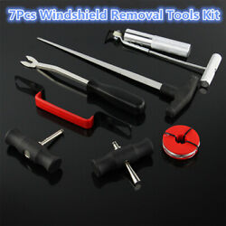 Automobile Windshield Removal Wire Roach Threader Wire Saw Assembly  7PCS Kit