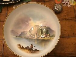 Exquisite Spode Copelands Hand Painted Large Bowl Pastoral Scene A Perry