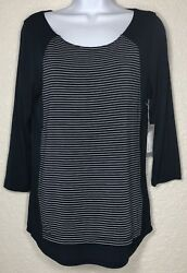 Tart Tunic S Womens Small Leona Scoop Neck Soft Top Shirt Overlay Design NEW
