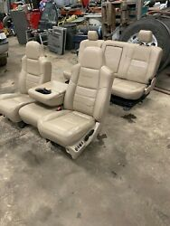 04 FORD F-250 LARIET DRIVER CENTER PASSENGER REAR SEATS *NO RIPS* POWER HEATED